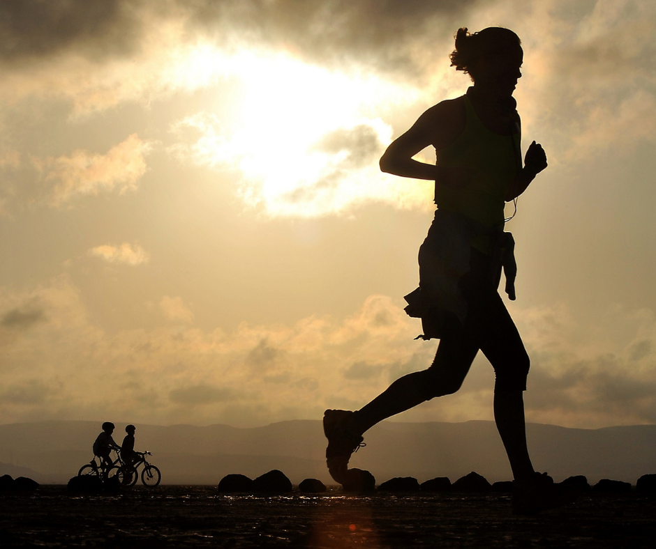 silhouette running